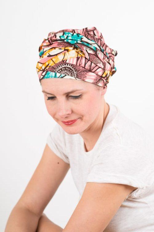 turban_chimiotherapie_coton_wax_africain_rose_bleu_sun3