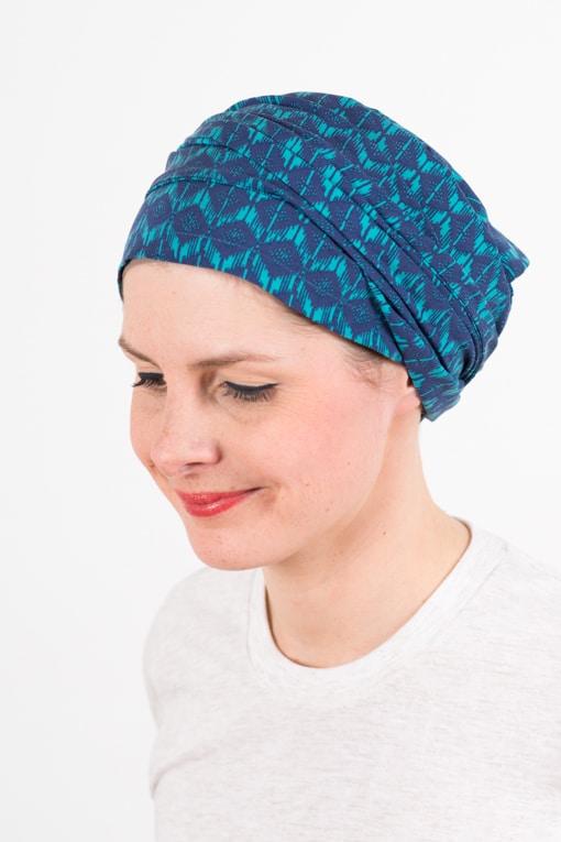 turban_chimiotherapie_coton_foudre_turquoise_azur_2