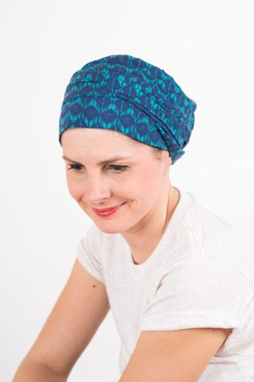 turban_chimiotherapie_coton_foudre_turquoise_azur_3