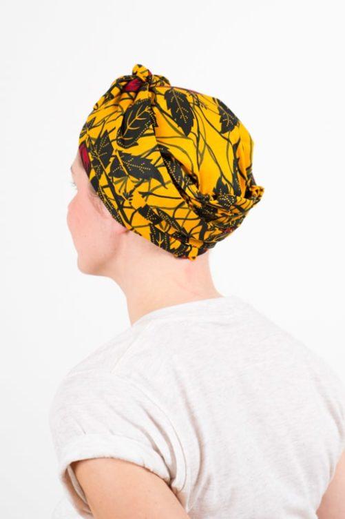 turban_chimiotherapie_coton_foudre_africain_wax_jaune_hib