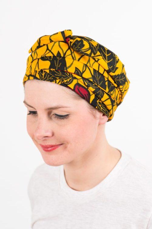 turban_chimiotherapie_coton_foudre_africain_wax_jaune_hib2