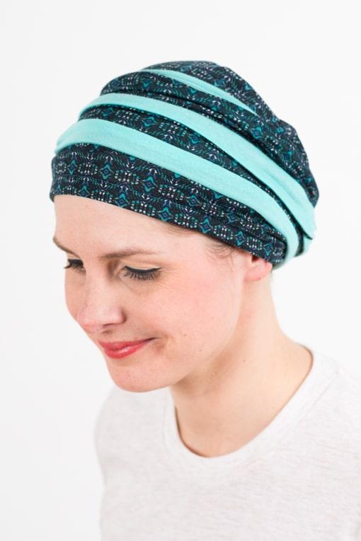 turban_chimiotherapie_coton_foudre_bicolore_turquoise_top2