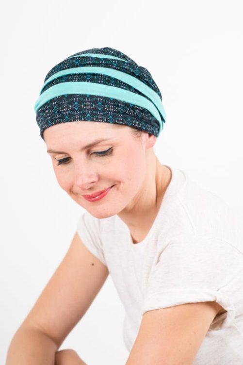 turban_chimiotherapie_coton_foudre_bicolore_turquoise_top3