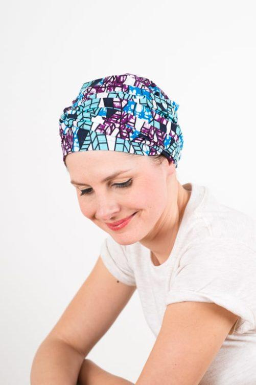 turban_chimiotherapie_coton_tissu_africain_wax_bleu_violet_4
