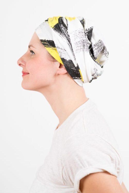 turban_chimiotherapie_elastique_jaune_blanc_2