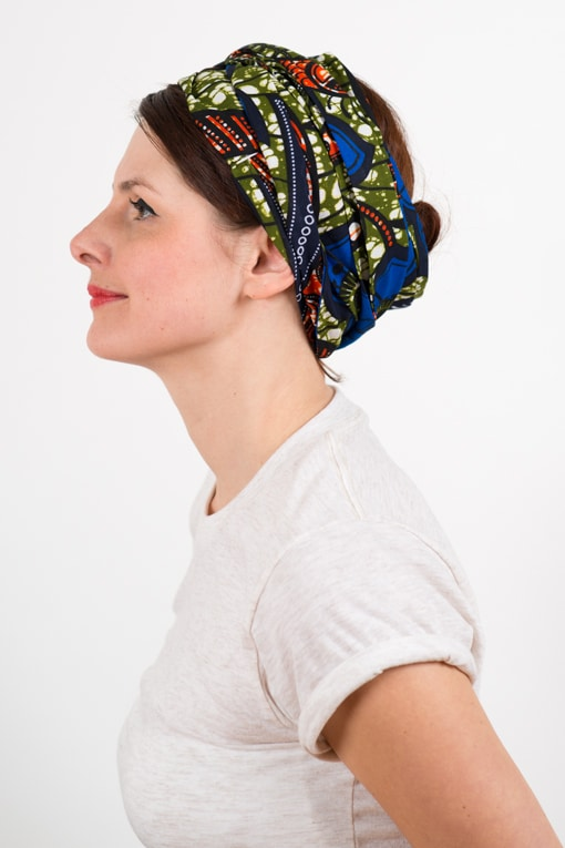 bandeau_a_cheveux_turbans_large_wax_bleu_kaki_foudre