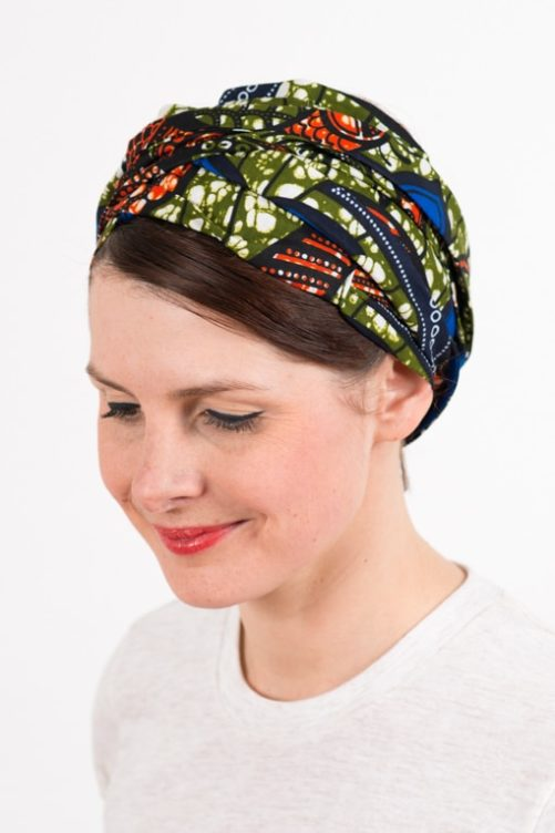 bandeau_a_cheveux_turbans_large_wax_bleu_kaki_foudre_2