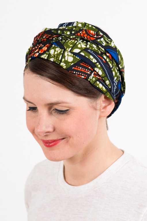 bandeau_a_cheveux_turbans_large_wax_bleu_kaki_foudre_2