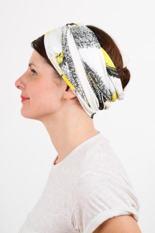 bandeau_a_cheveux_turbans_large_elastique_jaune_blanc_foudre