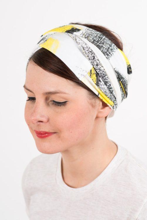 bandeau_a_cheveux_turbans_large_elastique_jaune_blanc_foudre_2