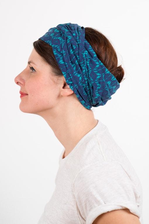 bandeau_a_cheveux_turbans_large_coton_bleu_turquoise_foudre