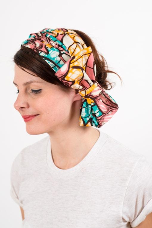 bandeau_a_cheveux_turbans_large_coton_wax_africain_rose_bleu