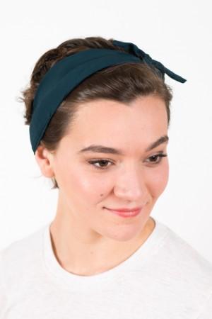 bandeau_a_cheveux_elastique_coton_vert