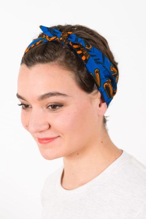 bandeau_a_cheveux_elastique_wax_africain_bleu_orange_2