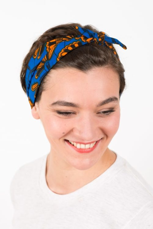 bandeau_a_cheveux_elastique_wax_africain_bleu_orange