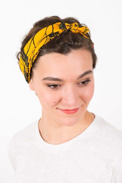 bandeau_a_cheveux_elastique_wax_africain_fleurs_jaune_2