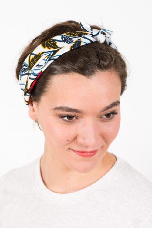 bandeau_a_cheveux_elastique_wax_africain_fleurs_blanche_2
