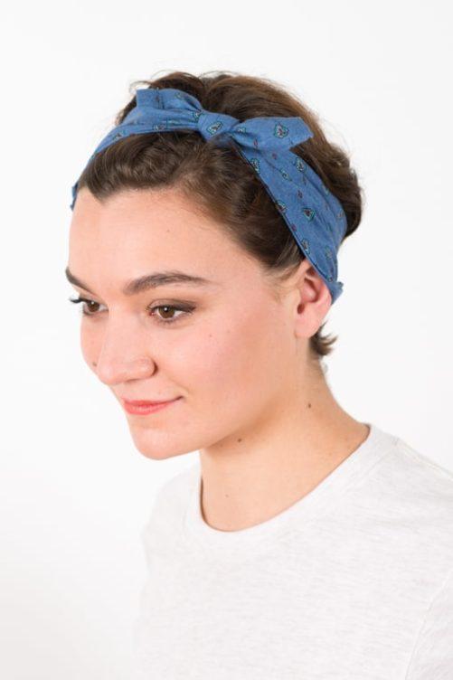 bandana_cheveux_coton_classique_bleu