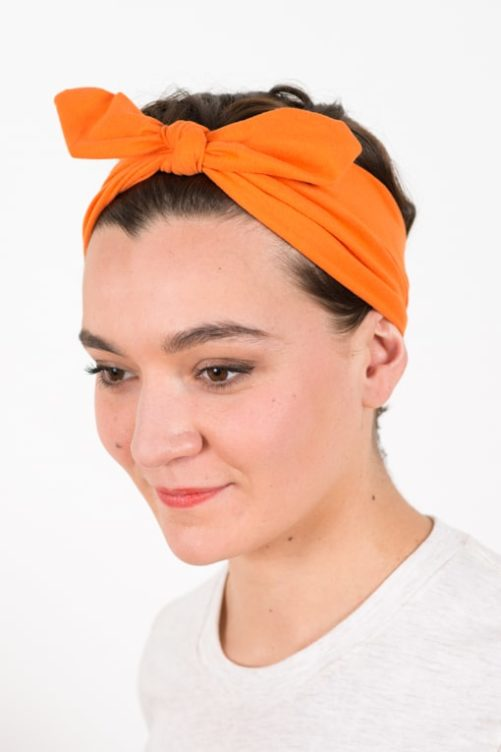 bandeau_a_cheveux_elastique_bunny_orange_