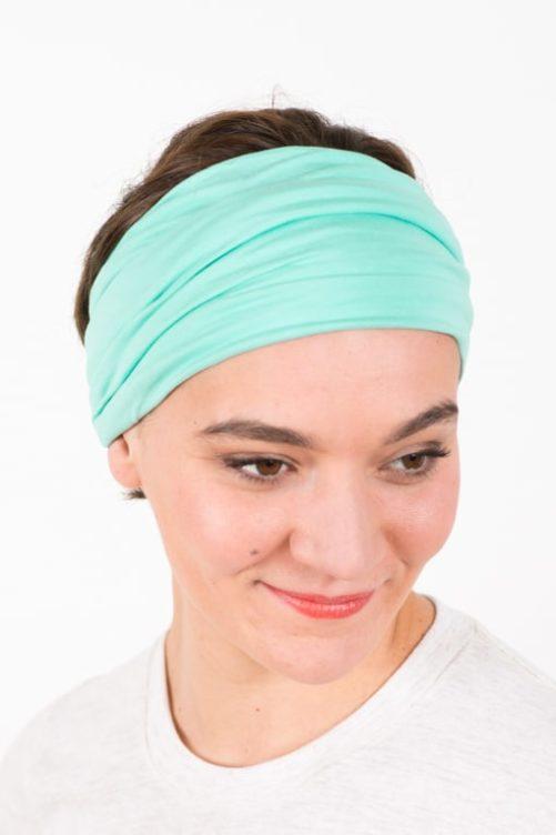 bandeau_a_cheveux_elastique_large_turquoise