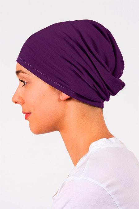 Bonnet pour chimiothérapie Benri violet