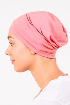foudre_bonnet_nuit_chimiotherapie_pelade_alopecie_corail