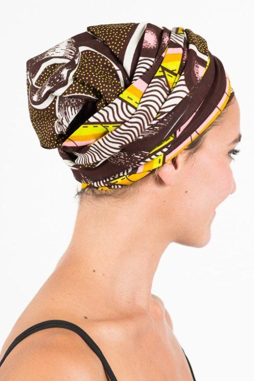 foudre_turban_bandeau_cheveux_tissu_africain_wax_rose_marron_2