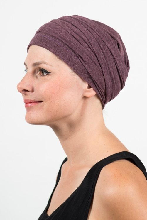 foudre_turban_chimio_pelade_maille_violet_2