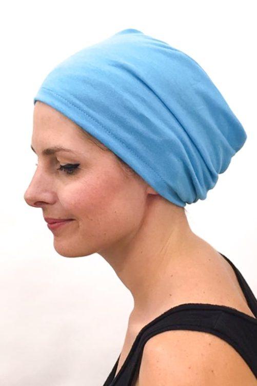 foudre_bonnet_nuit_chimiotherapie_pelade_alopecie_turquoise_2
