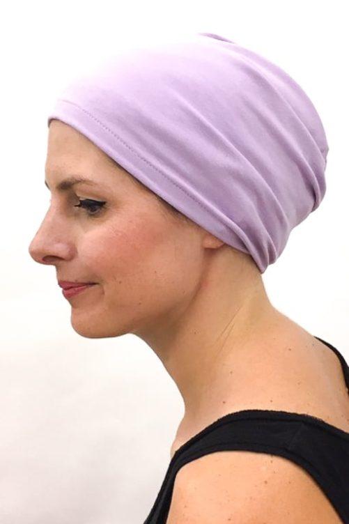 foudre_bonnet_nuit_chimiotherapie_pelade_alopecie_lilas_3