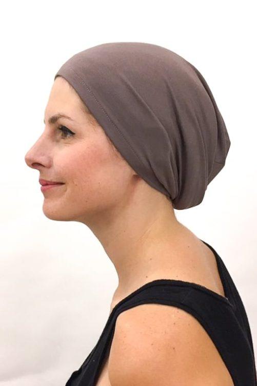 foudre_bonnet_nuit_chimiotherapie_pelade_alopecie_taupe_2
