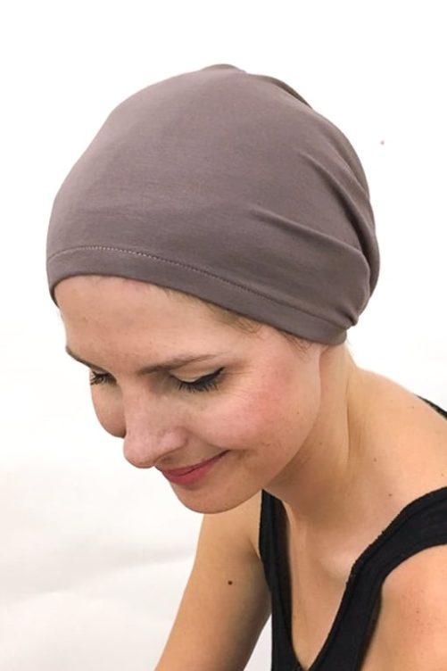 foudre_bonnet_nuit_chimiotherapie_pelade_alopecie_taupe