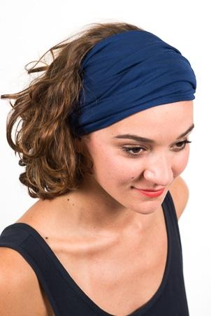 bandeau_a_cheveux_turbans_large_elastique_emeraude_bleu_marine_2