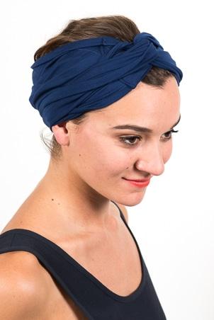 bandeau_a_cheveux_turbans_large_elastique_emeraude_bleu_marine
