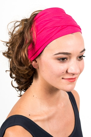 bandeau_a_cheveux_turbans_large_elastique_rose_fushia_2