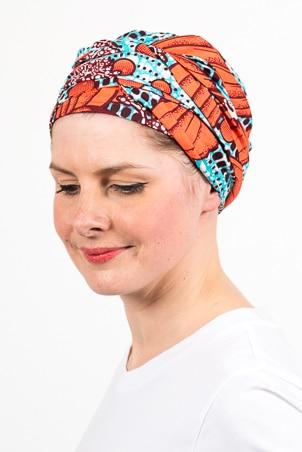 turban_chimiotherapie_wax_africain_bleu_corail