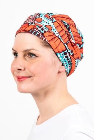 turban_chimiotherapie_wax_africain_bleu_corail_2