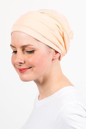 turban_chimiotherapie_elastique_pastel_peche