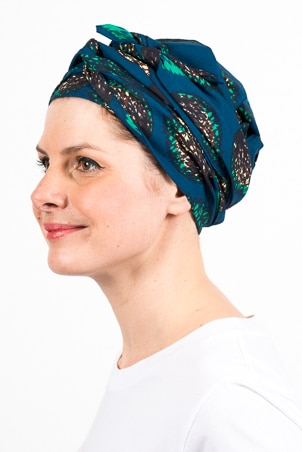 turban_chimiotherapie_wax_africain_plumes_bleu_2