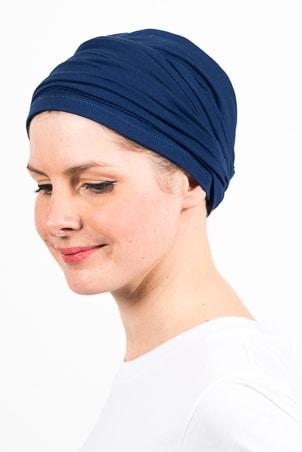 turban_chimiotherapie_elastique_bleu_marine