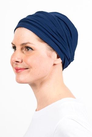 turban_chimiotherapie_elastique_bleu_marine_2