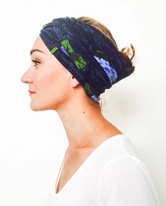 foudre_bandeaux_a_cheveux_large_pelade_alopecie_fleurs_bleu_myosotis