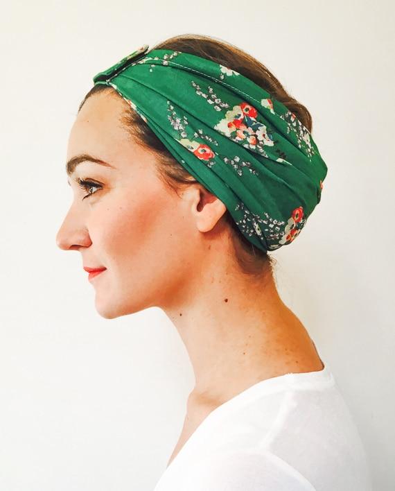 foudre_bandeaux_a_cheveux_pelade_alopecie_liberty_vert