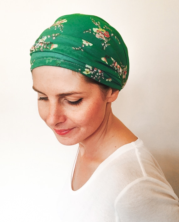 foudre_turbans_chimiotherapie_bandeau_scratch_liberty_vert