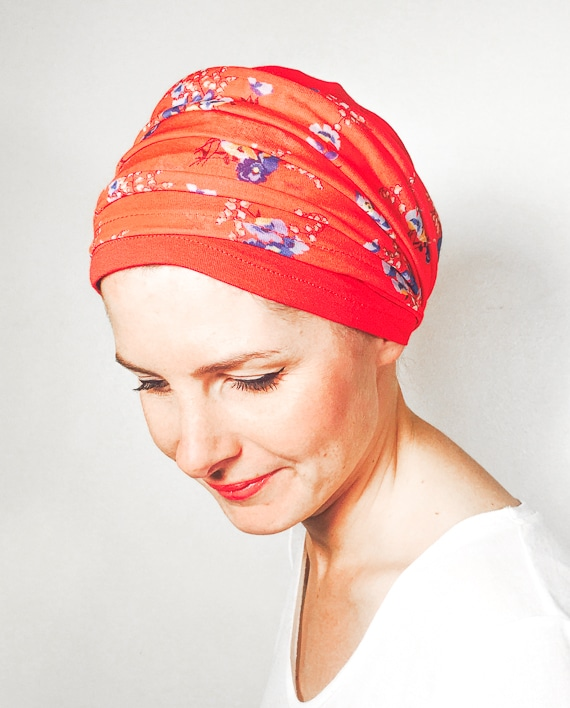 foudre_turbans_chimiotherapie_ensemble_volume_bandeaux_liberty_rouge