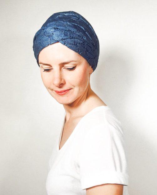 foudre_turbans_chimiotherapie_ensemble_volume_bandeaux_dentelle_bleu