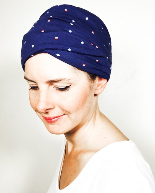 foudre_turbans_chimiotherapie_ensemble_volume_bandeaux_bleu_marine_hz