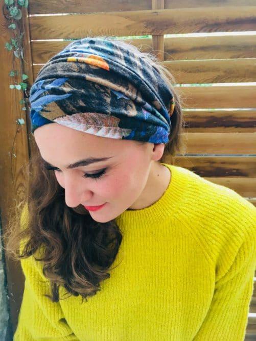 Bandeau à cheveux à scratch Foudre Fleurs d'hiver
