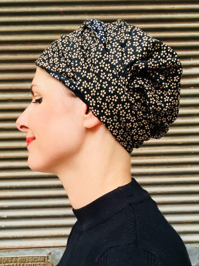 bandeau-large-chimiotherapie-pelade-coton-fleurs-noir-foudre