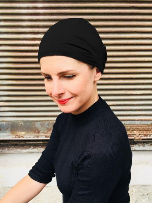 bonnet-chimiotherapie-plis-noir-foudre